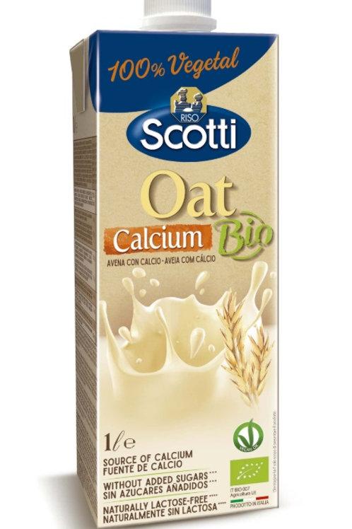 Alimento líquido de avena con calcio