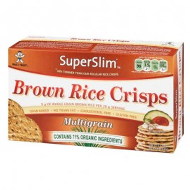 SuperSlim Rice Crisps 100g multi grano.