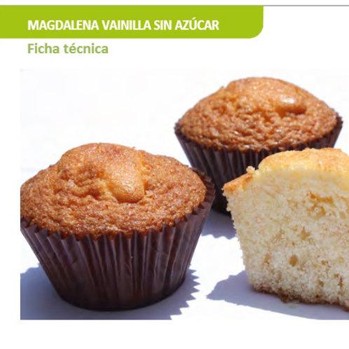 Magdalena sin gluten ni lactosa ni azucar