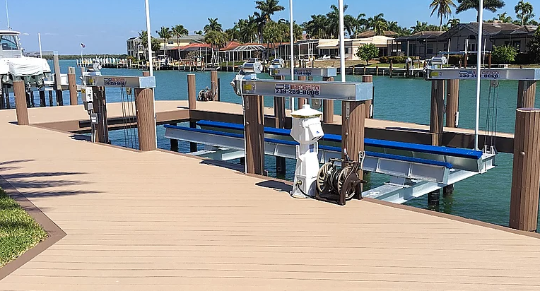 Marco Island, Naples, Fort Myers, Cape Coral and Harlem Heights. Dock builder
