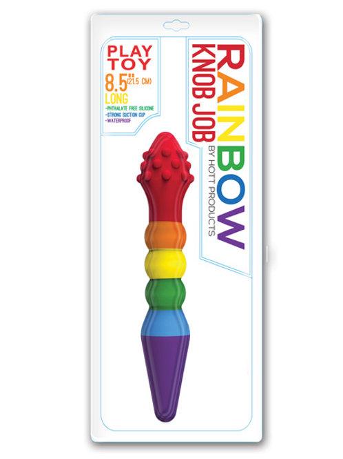 Rainbow Knob Job Dildo