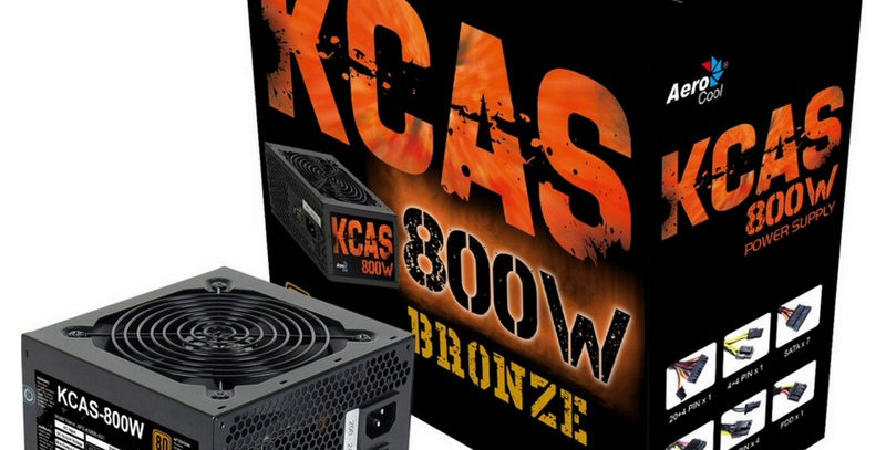 Fuente AEROCOOL KCAS 800W 80+ Bronze Gaming (KCAS-800W)