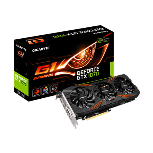 Gigabyte Nvidia GTX1070 G1 Gaming 8gb