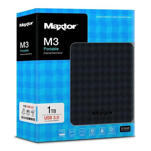 """Disco Duro Externo Seagate Maxtor 1TB 2.5"""" USB 3.0"""