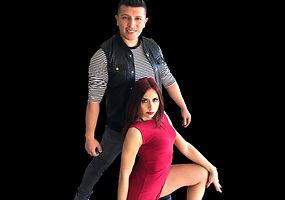 byron kai zoi png dress red - black back