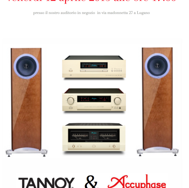 Acuphase and Tannoy