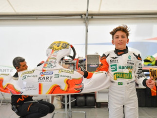 Gui Figueiredo tem etapa difícil no Europeu de Kart, mas ressalta trabalho de evolução com a equipe