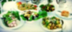 Various food on Wedding table at Lastingham.