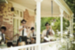 Wedding band playing music at Lastingham.