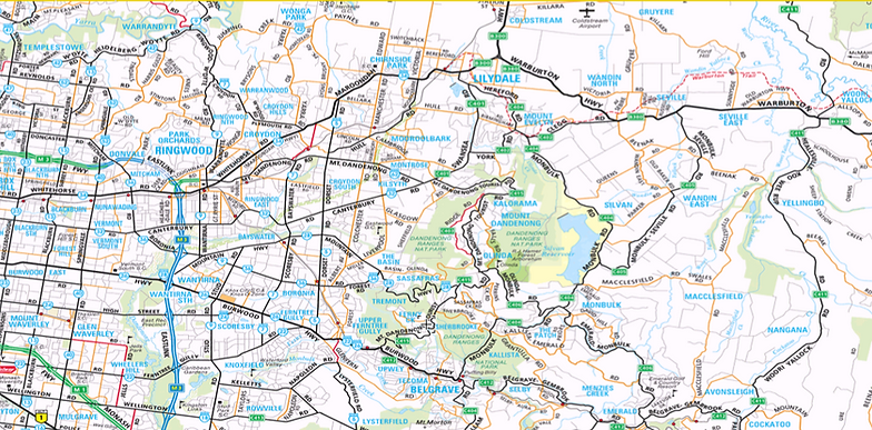 Image of Eastern Bin Hire's Service Area Map of Rowville 3178 & melbourne's outer eastern suburbs