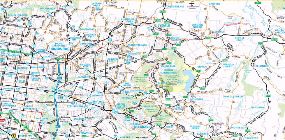 image - eastern bin hire's melbourne outer eastern suburbs service area map for yarra ranges, marondah, whitehorse, knox, yarra valley.