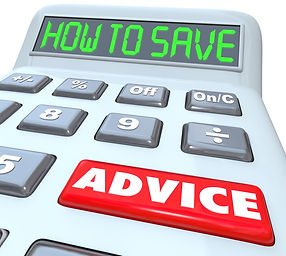 "image of a calculator with ""how to save"" written on the screen"