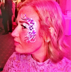 wedding reception adult face paint