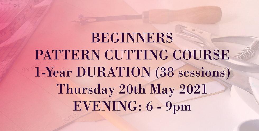 Pattern Cutting: Beginners to Intermediate, 1 year Course