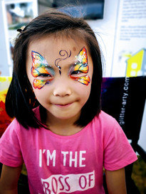 Butterfly face paint - corporate event