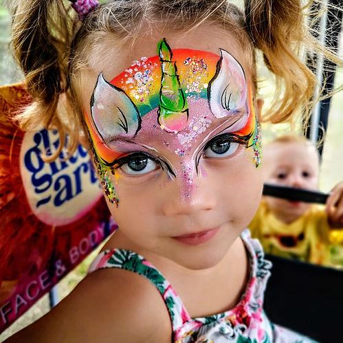 unicorn face paint face painter launch event