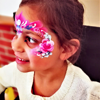 crown face paint with roses