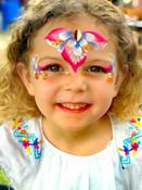 Girls Summery face paint