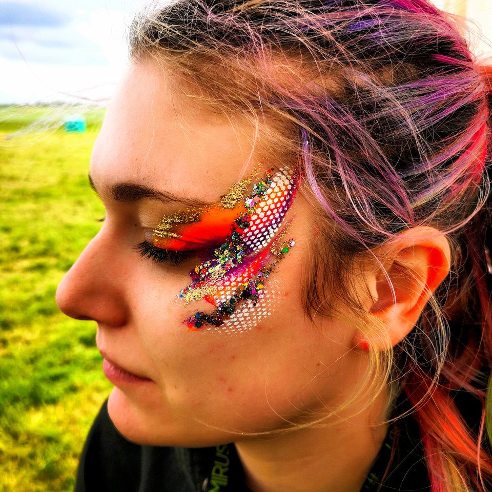 Festival Glitter Face Makeup