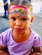 Rainbow face paint design