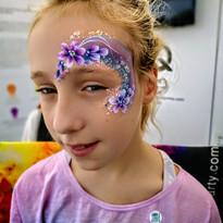 Unicorn flower face paint - corporate event