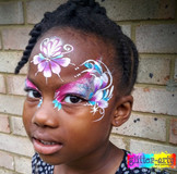 Sparkly pretty face paint