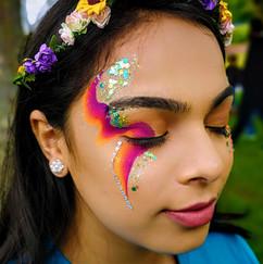 Festival adult glitter makeup