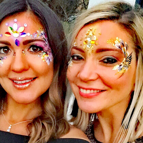 Hen night festival face art
