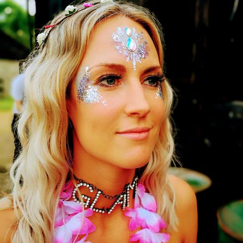 Festival Glitter Makeup