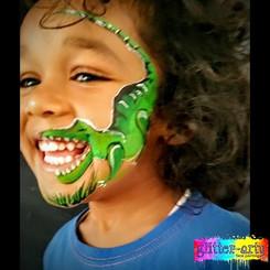 boys dinosaur face paint