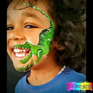 Boys dinosaur facepaint