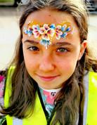Floral headback face paint
