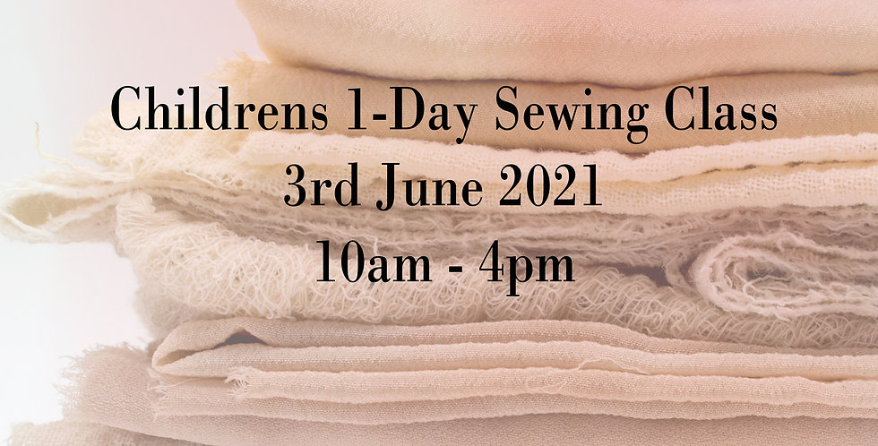 1-Day May Half Term Childrens Sewing Class