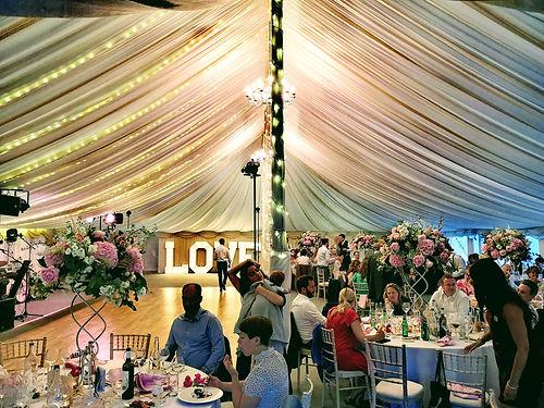 glitter bar wedding party UK