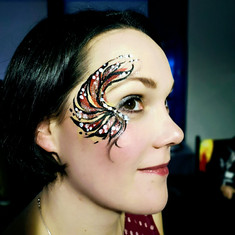 Adult face painted eye designs