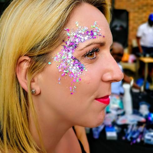 Coachella Style Glitter Makeup