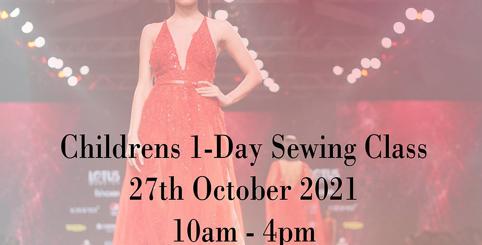 1-Day October Half Term Childrens Sewing Class