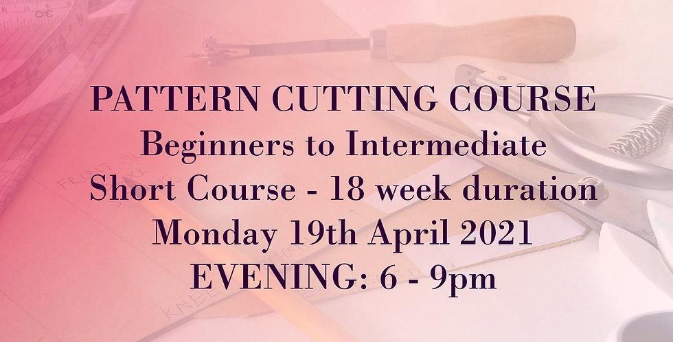 Pattern Cutting: 18-week Foundation Basics Course