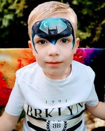 Boys Batman Face Paint