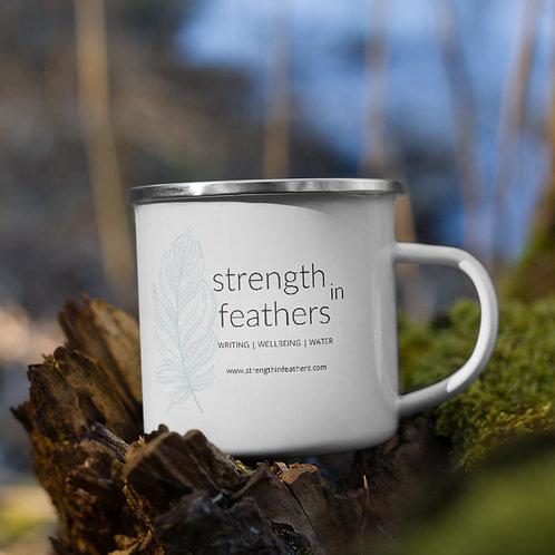 Strength in Feathers Enamel Mug