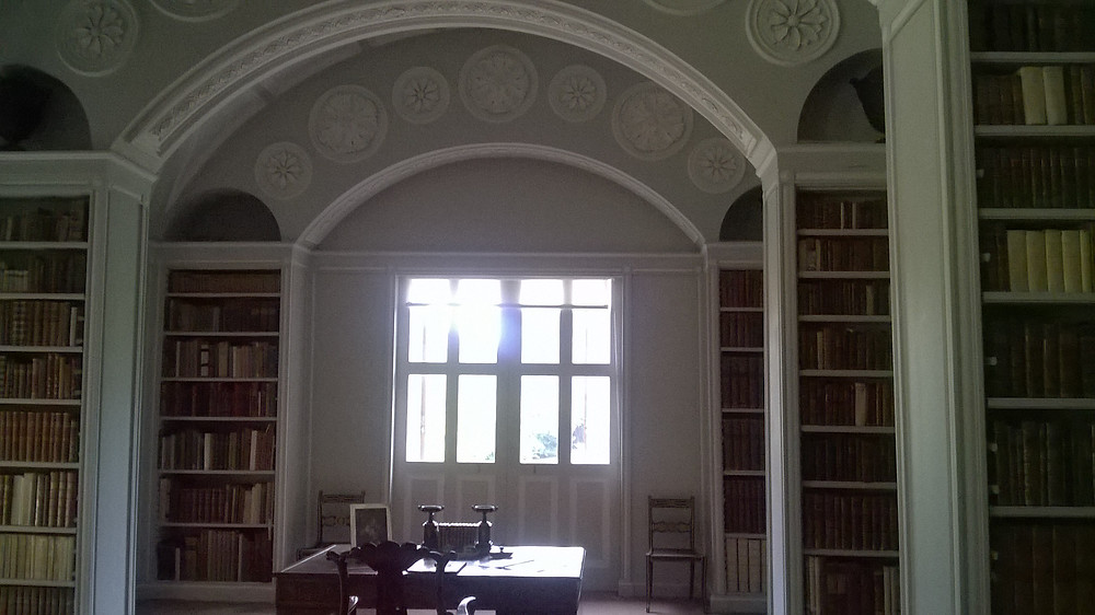 Part of the library. It originally housed around 10,000 Books