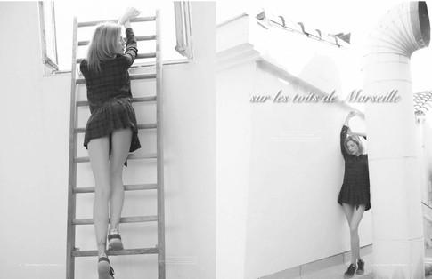 [ Édito pour @sheebamagazine ] « Sur les toits de Marseille » Mua : @amandapierquin 💙 Photographe : @michelnikodem Haircolor : @cartiercoiffure ☀️