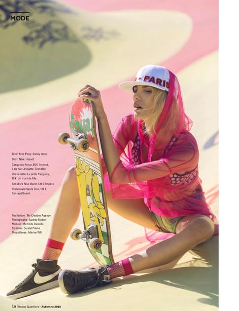 • Beaux quartiers Magazine •  « Quoi qu'il en SWAG ! » Photographe : Audrey Bieber Muah : Marine Wr 💄 Styliste : Crystel Pilone 👗