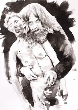 Alan Moore - Do Inferno (para a exposição Voz do Fogo)__21 x 29,7cm_nanquim sobre papel_2014