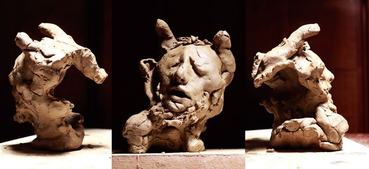 13º Minotauro (foto 2)__11x11x9,5cm_argila_2014
