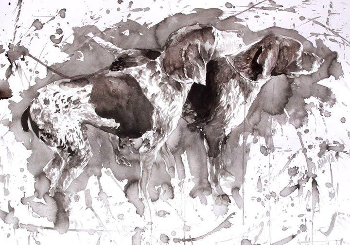 cães (encomenda)__nanquim sobre papel_2013