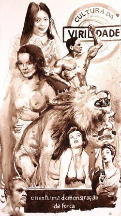 Lionman____49,5x28cm__extrato de nogueira__2012