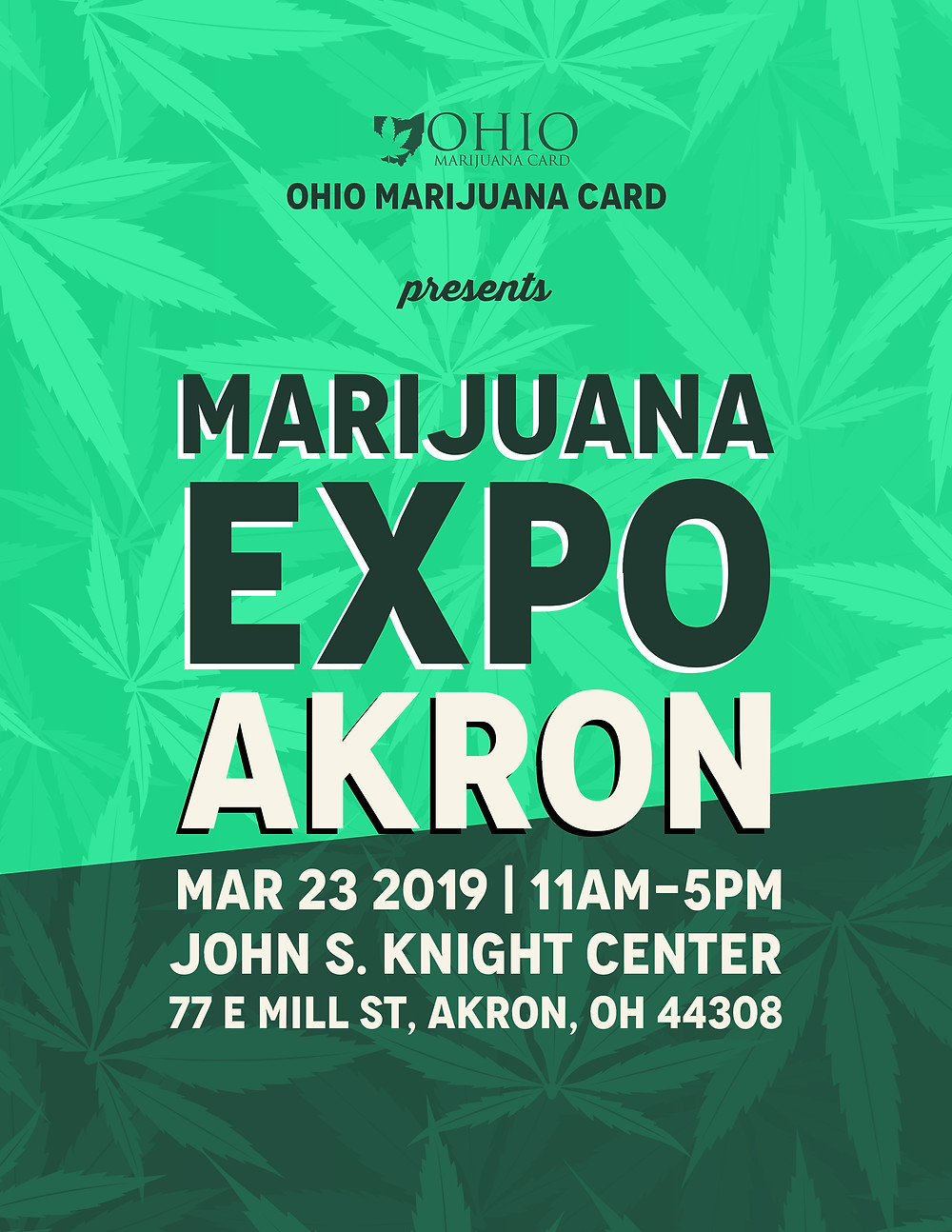 Ohio Marijuana Expo: Akron Promotional Flyer