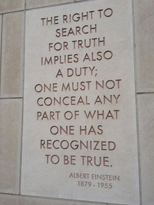 Inscription on the wall of the National Academies Keck building, Washington, D.C.