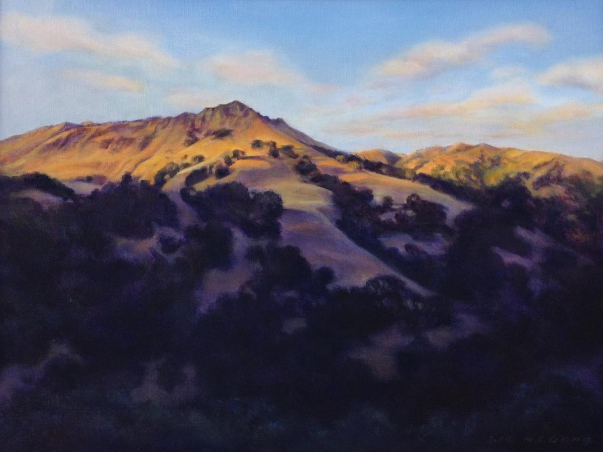 Last ray of sunlight, Flag Hill